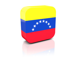 Square icon with flag of venezuela