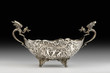 Antique Silver Dragon Bowl. - 77420943