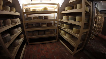 HD1080p: Big storage of cheese of different kinds