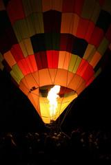 USA, Utah, Eden, Hot Air Balloon taking off during Ogden Valley Balloon Festival