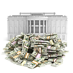 Government spending .Money in front of the White house