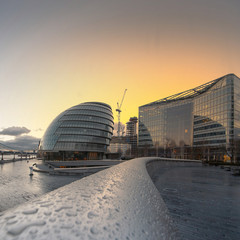 UK, England, London, View of City Hall at sunset