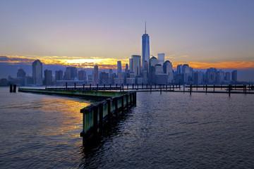 USA, New York State, New York City, City at sunrise
