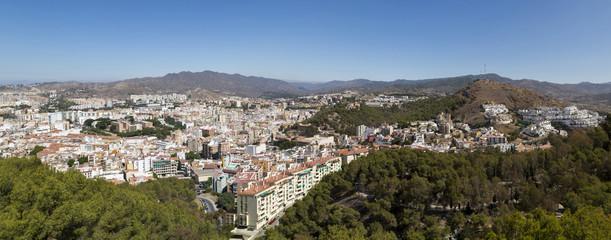 Spain, Andalusia, Malaga, Panoramic cityscape