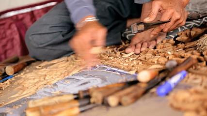 Thai wood carver, Thailand