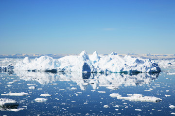 Greenland, Landscape with icebergs