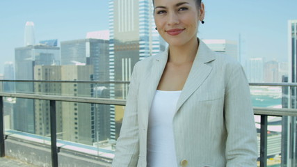 Female Asian Chinese Corporate Executive Close Up