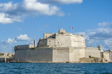 Fort Saint Angelo in Vittoriosa (Birgu), Malta, as seen from the
