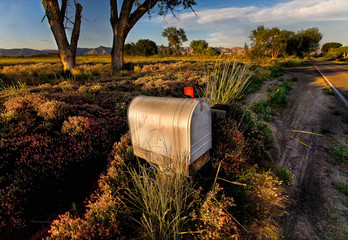USA, Colorado, Mesa County, Grand Junction, View of country mailbox