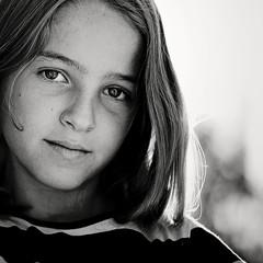 Spain, Catalonia, Provincia de Barcelona, Valles Occidental, Senmanat, Portrait of girl (10-11)