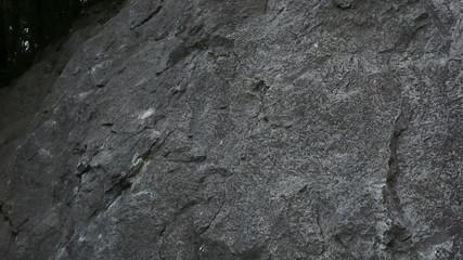 Man rock climbing in beautiful nature