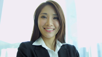 Young Ethnic Businesswoman City Office Portrait