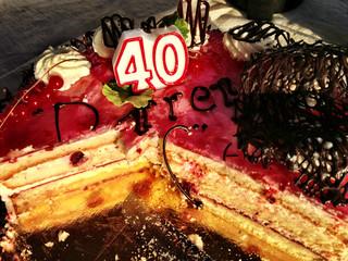Sweden, Svealand, Stockholm, 40th birthday cake