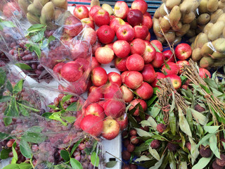 Fruits on market stall