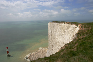 UK, East Sussex, Eastbourne, View of sea from Beachy Head