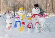 Snowman family - 77425504