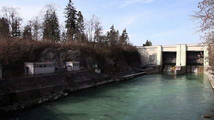 Panoramic shot of hydro electric power station