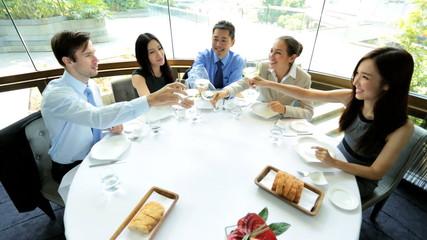 Multi Ethnic Banking Executives Celebrating Future Business
