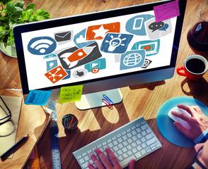 Media Social Network Internet Technology Online Concept