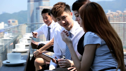 Team Business Associates Wireless Technology Rooftop Restaurant