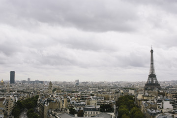 France, Paris, Skyline with Eiffel Tower