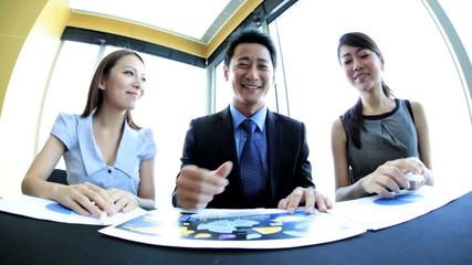 Asian Chinese Business Team Meeting Handshake