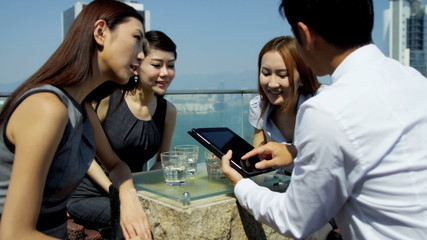 Group Young Ethnic Advertising Executives News Success