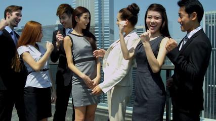 Portrait Confident Team Multi Ethnic Corporate Business People