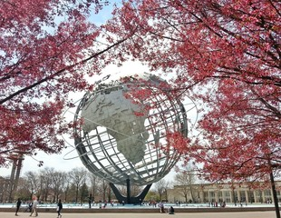USA, New York State, New York City, Queens, Flushing Meadows Park, View of Unisphere