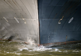 Netherlands, Rotterdam, Holland America Line's cruiseship's bow