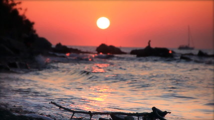 Sunset,  slow motion 60fps
