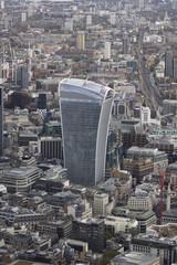 United Kingdom, London, Cityscape with Walkie Talkie skyscraper in center