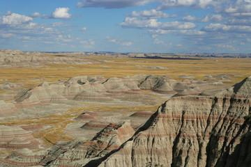 USA, Badlands National Park, View of badlands