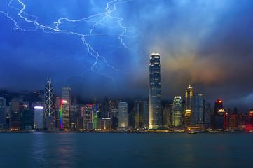 Hong Kong at night,lighting