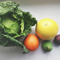 Unprepared fruit and vegetables