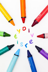 Crayons surrounding the word diversity