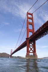 USA, California, San Francisco, Low angle view of Golden Gate Bridge