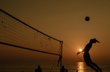 Fototapeta Beach volleyball silhouette