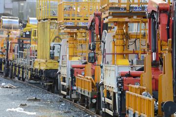 repair cars on the railroad