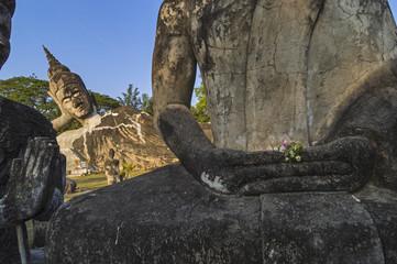 Laos, Buddha statues in Buddha Park