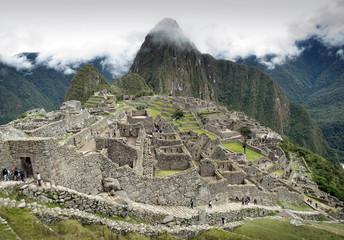Peru, Machu Picchu, View of ancient town