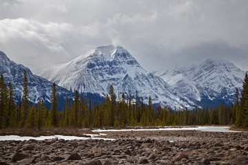 Canada, Alberta, Jasper National Park, Jasper Mountains