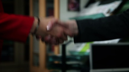 Shaking hands after session