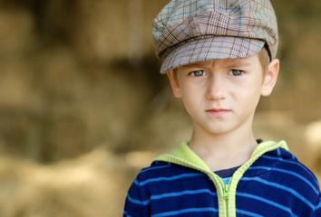 Bulgaria, Portrait of serious little boy (4-5)
