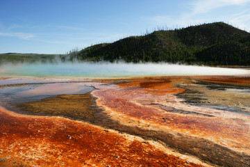 USA, Wyoming, Yellowstone National Park, View of hot spring