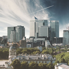 UK, England, London, Canary Wharf, Cityscape