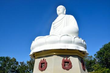 Белый Будда. Пагода Лонгшон, Нячанг, Вьетнам