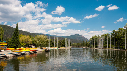 Spain, Catalonia, View of Segre Olympic Park