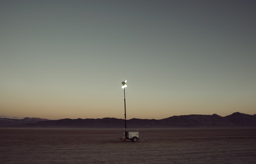 Lamp in middle of desert
