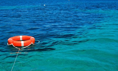 Amazing Sardinia sea with life belt